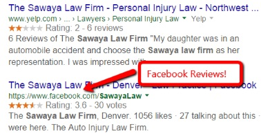 Facebook Reviews Go Google