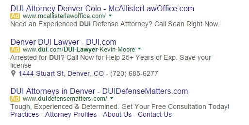 phone number in adwords ad